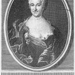 A contemporary etching of Christiana Mariana von Ziegler (1695-1760), the author of the libretto for Ihr werdet weinen und heulen, BWV 103.