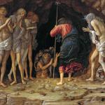 The Harrowing of Hell by Andrea Mantegna, around 1470. An important part of Mediaval Easter traditions, the Harrowing of Hell describes the descent by Christ into Hell between his death and resurrection to release the innocent victims of the devil.