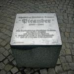 Memorial plaque in the Burgplatz in Leipzig for Christian Friedrich Henrici (January 14, 1700 – May 10, 1764), writing under his pen name Picander, author of the libretti of many Bach cantatas, including the Matthaeus Passion and the Coffee Cantata.