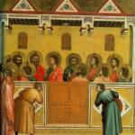 Pentecost by Italian painter Giotto (1267-1337), National Gallery, London.