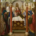 The Presentation in the Temple, painting by Jacques Daret from around 1434. The figure with the long grey beard is Simeon.