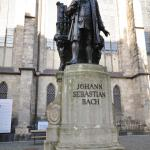 The statue of Johann Sebastian Bach next to the Thomaskirche in Leipzig. When Bach came to Leipzig to audition for the position as Thomaskantor, he could not have imagined that many centuries later a statue would be erected for him outside the church.