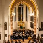 Then and now, the Thomanerchor is instrumental in the performance of Bach cantatas in the Thomaskirche, here under direction of the current Thomaskantor, Gotthold Schwarz. The predecessors of these choristers performed under Bach's direction as Thomaskantor.
