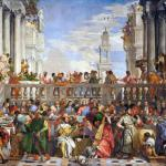The Wedding Feast at Cana (1563) by Paolo Veronese (1528–1588). This magnificent large painting hangs in the Louvre opposite the Mona Lisa, so it's a pity that very many visitors do not pay it the attention it deserves. The wedding at Cana is the inspiration for the libretto for Mein Gott, wie lang, ach lange?, BWV 155, and Meine Seufzer, meine Tränen, BWV 13.
