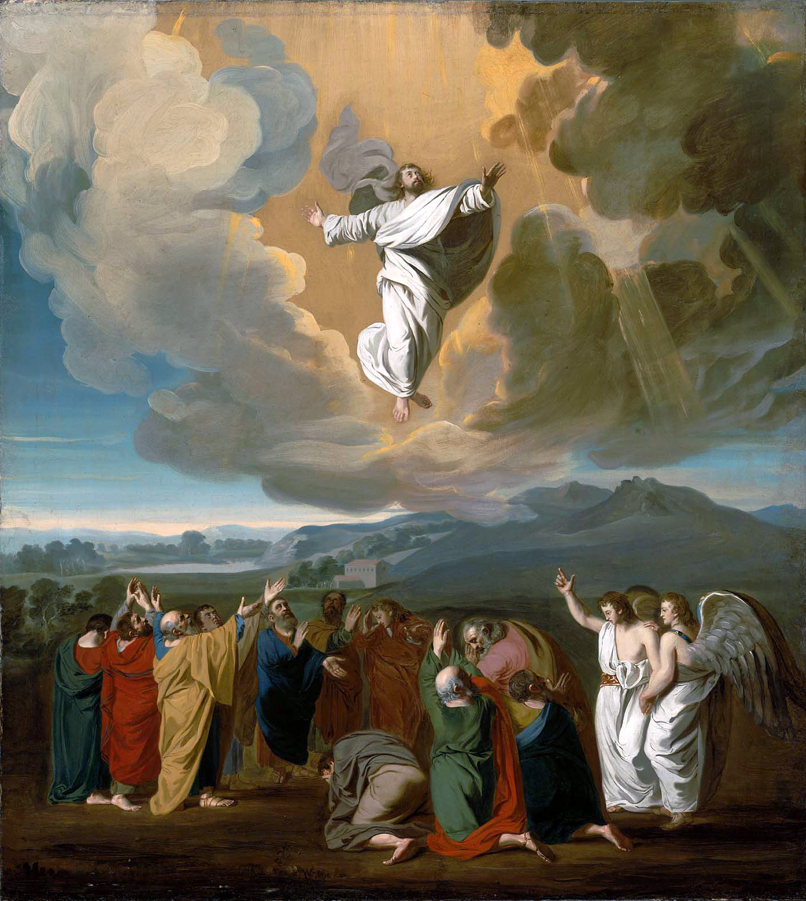 The Ascension of Christ, 1775, by American painter John Singleton Copley (1738-1815), Boston Museum of Fine Arts.