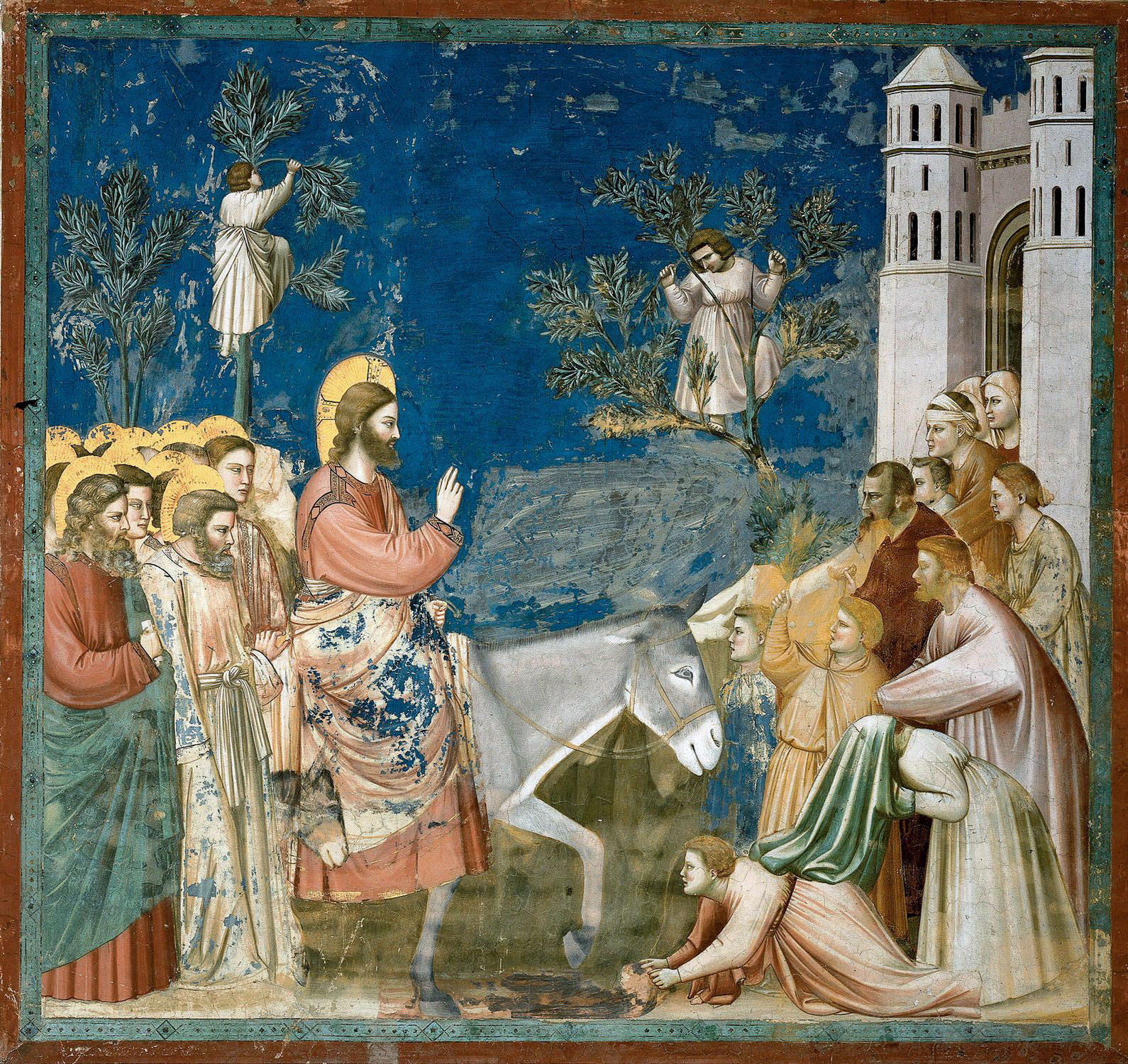 The Entry into Jerusalem, 14th century painting by Giotto (c.1267-1337).
