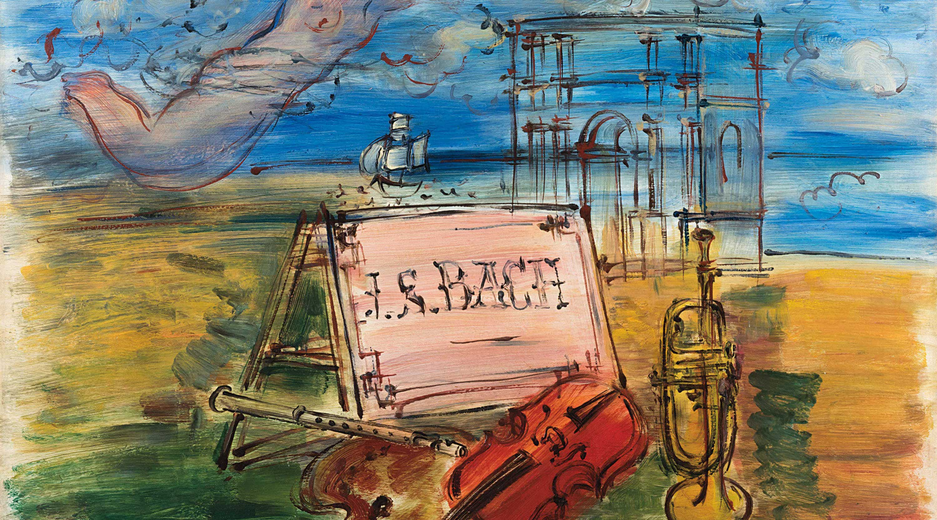 Hommage to Bach, a painting by French Fauvist painter Raoul Dufy (1877-1953). Dufy has made several paintings honouring classical composers.