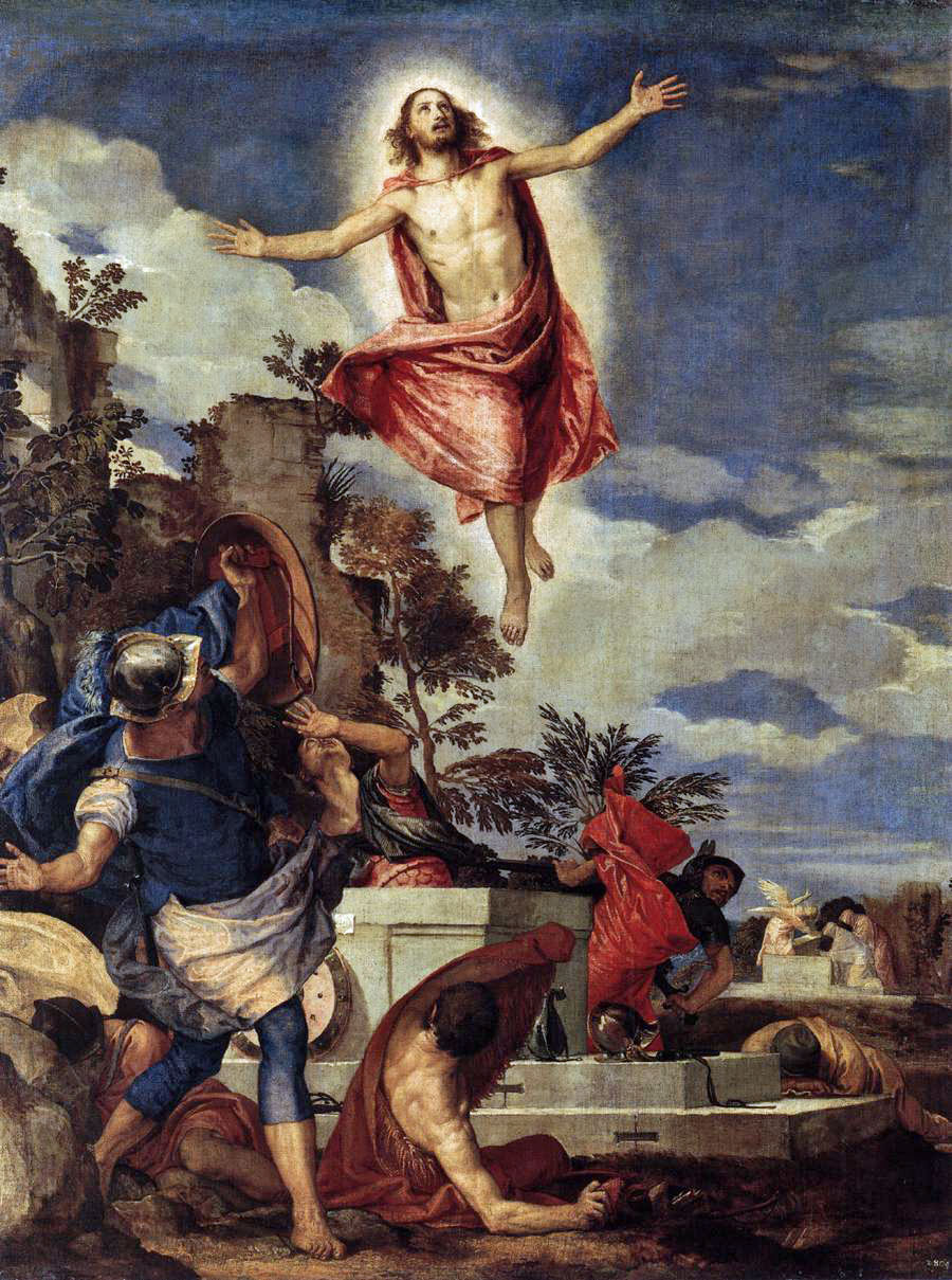 The resurrection of Christ by Paolo Veronese, around 1570, Dresden, Gemäldegalerie.