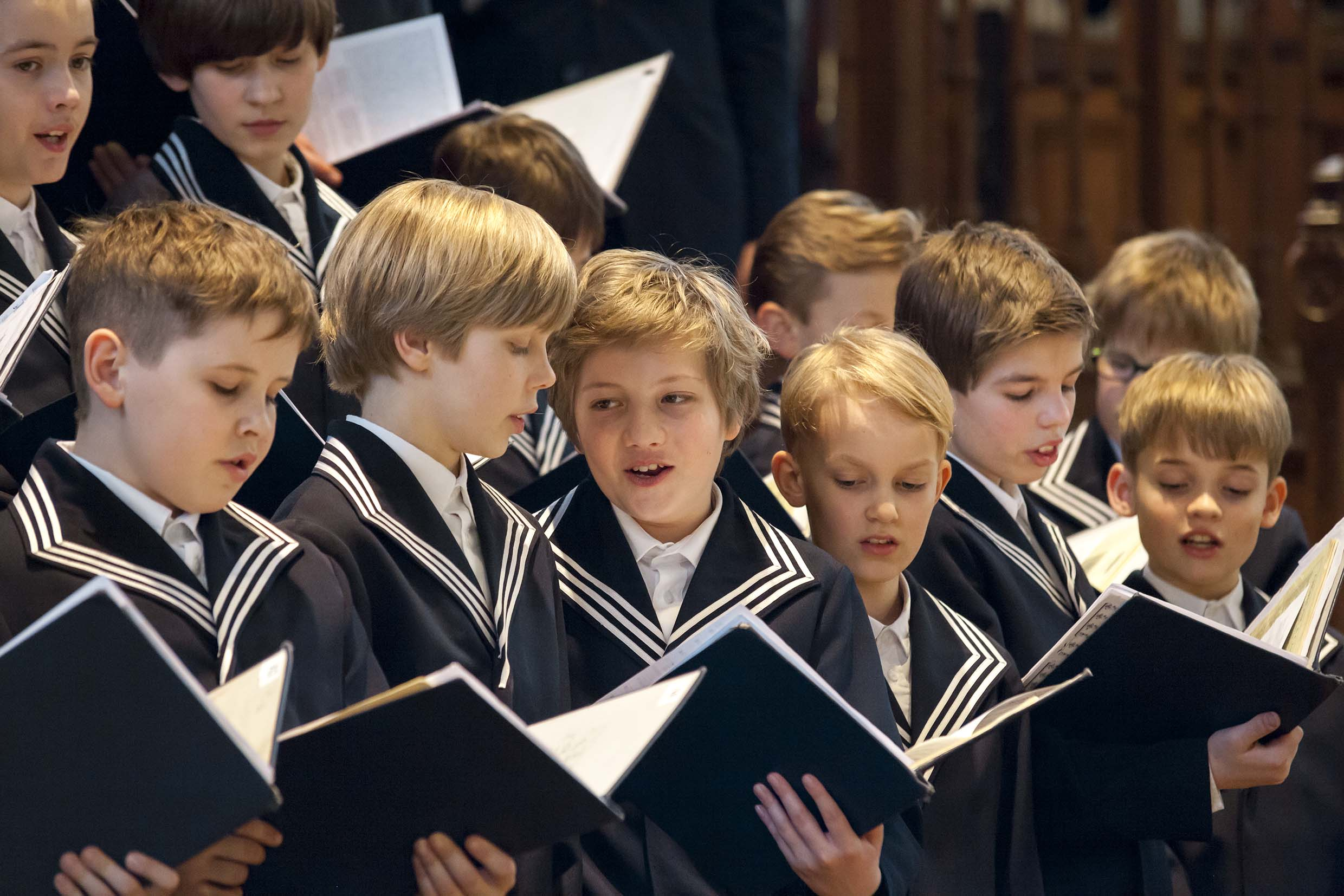 Young members of the Thomanerchor performing. The Thomanerchor was founded in 1212, and the Thomaskantor is its director, as was Bach from 1723 until his death in 1750.